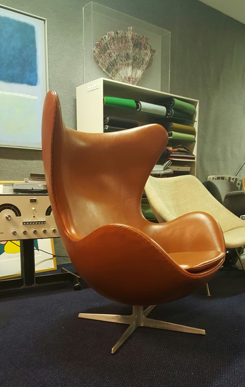 Arne Jacobsen Egg Chair Red With New Leather First Edition